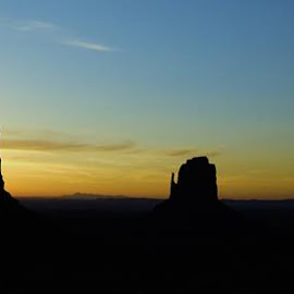 Monument Valley Sunrise by Chris Jarrell - Landscapes Deserts