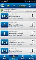 Screenshot of RideChicago Pro-CTA,PACE,METRA