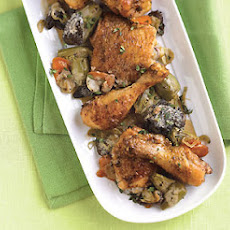 Chicken and Artichoke Fricassée with Morel Mushrooms