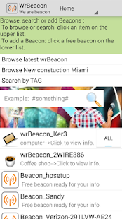 wrBeacon promote via WIFI - screenshot
