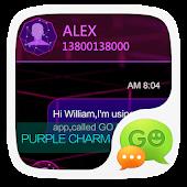 App GO SMS PRO PURPLE CHARM THEME APK for Windows Phone