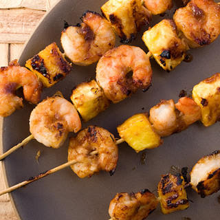 Pineapple-Glazed Shrimp Skewers