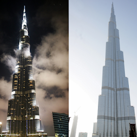 day and Night.......... by Aroon  Kalandy - Buildings & Architecture Office Buildings & Hotels ( dubai, burj khalifa )