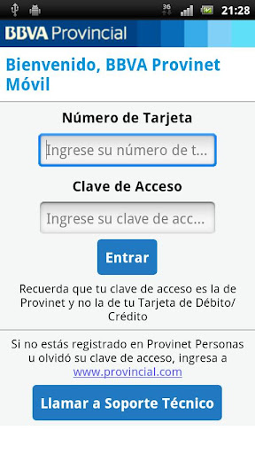 bbva-provinet-movil for android screenshot