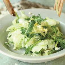 Shaved Broccoli Stalk Salad with Lime & Cotija