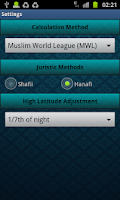Screenshot of Salat Time Widget