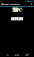 Screenshot of battery indicator free