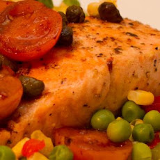 Salmon With Tomato Vinaigrette