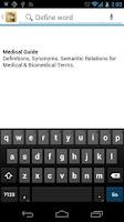 Screenshot of Medical Dictionary & Guide