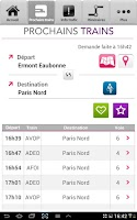 Screenshot of SNCF Transilien