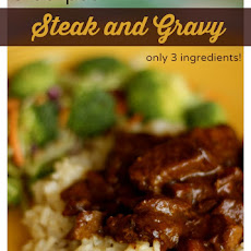 Crockpot Steak and Gravy