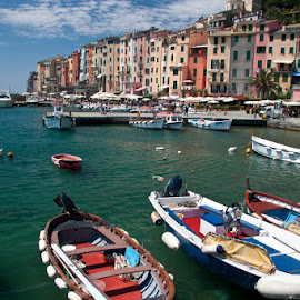 We take a boat ride to the picturesque  village of Portovenere by Gale Perry - Landscapes Waterscapes (  )