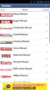 App Gazeteler Manşetler (Gazeteci) apk for kindle fire