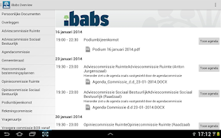 Screenshot of iBabs