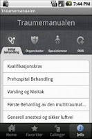 Screenshot of Traumemanualen