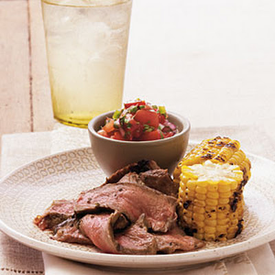 Mojito Strip Steaks with Pico de Gallo