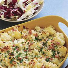 Cauliflower and Ham au Gratin