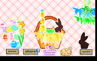 Screenshot of Easter Basket Dressup