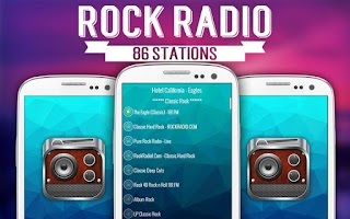 Screenshot of Rock Radio - Free Music Player