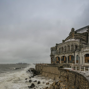 Casino of Constanta by Lupu Radu - Buildings & Architecture Statues & Monuments ( romania, casino, constanta, , storm, stormy, weather )