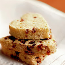 Dried Cranberry Shortbread Hearts
