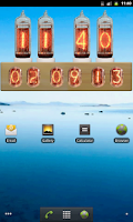 Screenshot of Nixie Tube Clock Widget