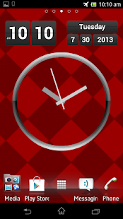 Titanium Clock Live Wallpaper - screenshot