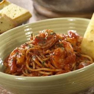 Roasted Garlic and Herb Shrimp with Spaghetti