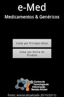 Screenshot of e-Med Medicamentos & Genéricos