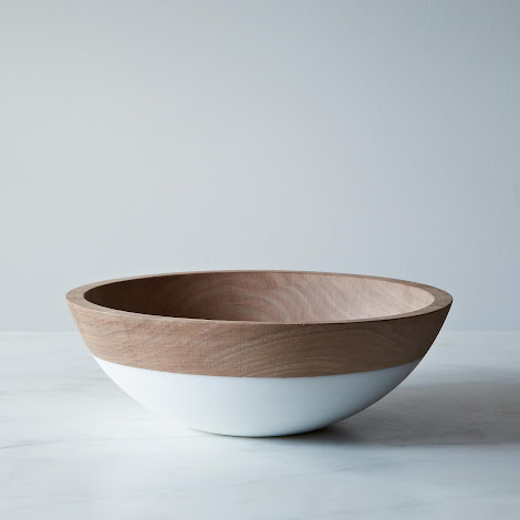 Hand-Dipped Walnut Wood Bowl (10 Inch)