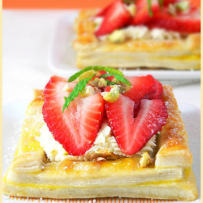 Spring and Strawberry Tartlets
