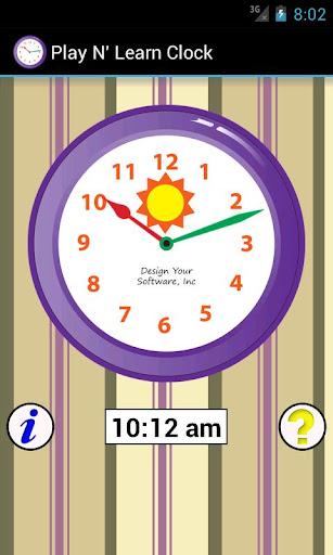 Play N' Learn Clock