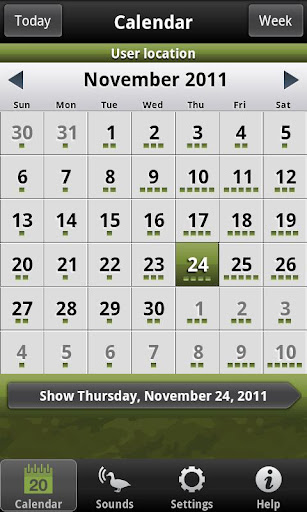 Hunting Calendar Lite