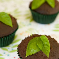 Vegan Chocolate Cupcakes with Basil