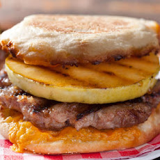 Apple and Cheddar Breakfast-Sausage Burger