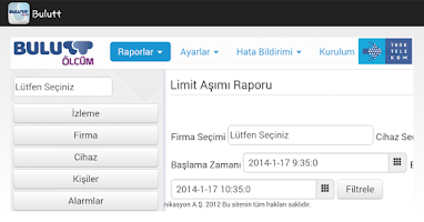 Screenshot of Bulutt Ölçüm
