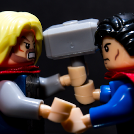 Marvel vs. DC by Reiner Locsin - Artistic Objects Toys ( dc, heroes, superman, marvel, toys, superheroes, thor )