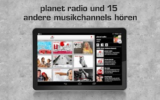 Screenshot of planet radio