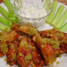 Jalapeño Wings With Cool Cilantro Dip