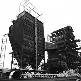Sugar Factory by Akash Hbk - Buildings & Architecture Other Exteriors ( building, black and white, factory, firstime, sugar )