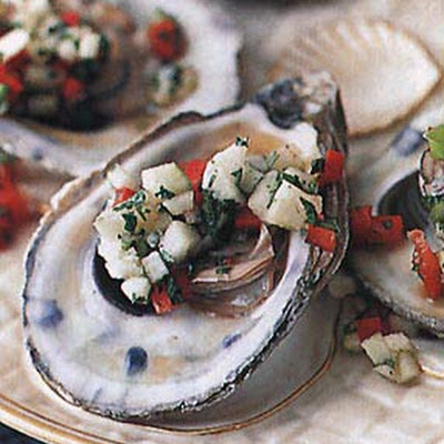 Oysters with Apple Mignonnette