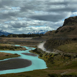 The Blue River by Anna Tatti - Landscapes Travel ( glacier, chile, rio paine, parque nacional torres del paine, river,  )