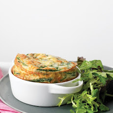 Spinach Frittata with Green Salad