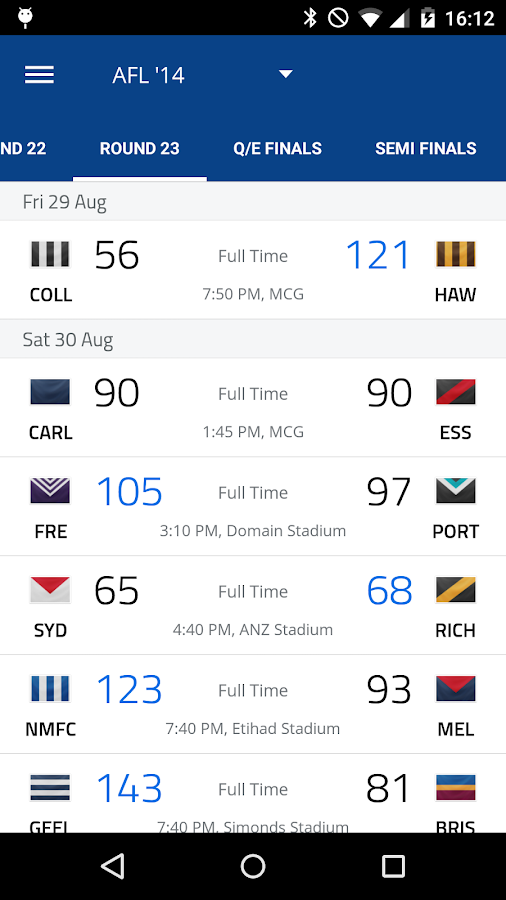 AFL Footy Live Screenshot 1