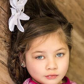 by Nancy Kearney - Babies & Children Child Portraits ( girl, blue eyes, portrait )