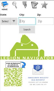 American Legion Navigator - screenshot