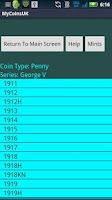 Screenshot of Coin Collecting - My UK Coins