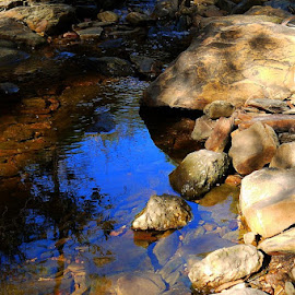 Rivers Run Dry by Leigh Martin - Nature Up Close Rock & Stone ( shallow river rocks riverbed )
