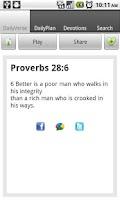Screenshot of Daily Bible