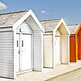 Beach Huts by Wendy Milne - Buildings & Architecture Other Exteriors ( colour, wooden, bright, beach huts, summer )